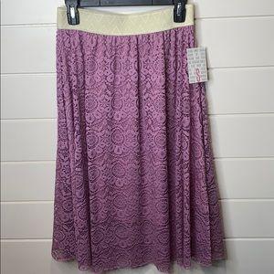 LuLaRoe Lola skirt lace BNWT small
